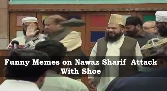 Funny Memes on Nawaz Sharif Attack With Shoe